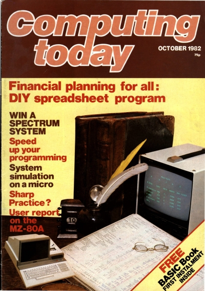 Computing Today October 1982 cover page